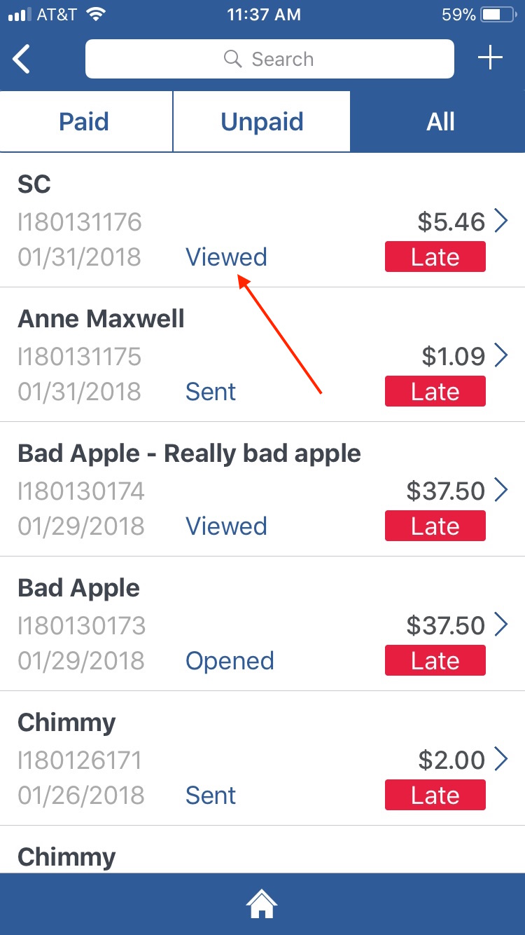 how to send an invoice on ebay mobile