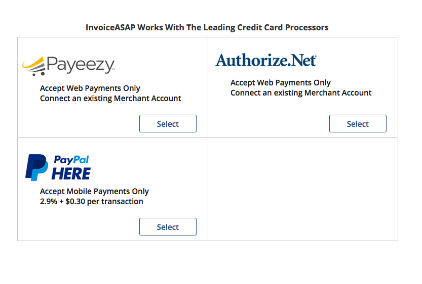 Web Dashboard How To Add PayPal Here As Payment Method - Invoice asap paypal