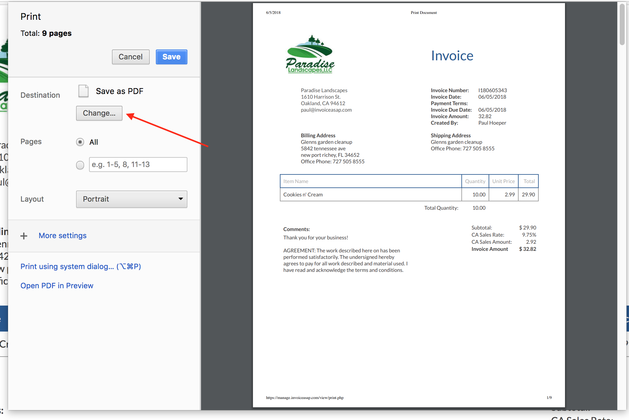 Web Dashboard How Do I Create A PDF Of The Invoice InvoiceASAP - Invoice asap android